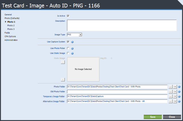 Terian IDC Card Type Configuration Photo1 Field
