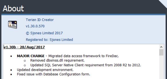 Terian IDC version log