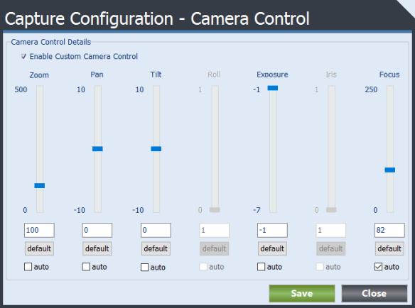 Camera Control Form