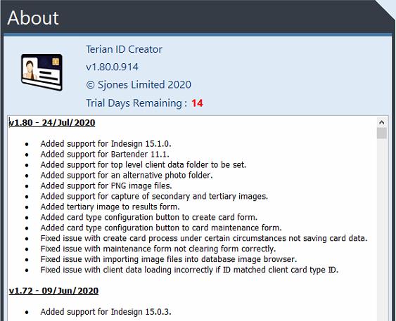 Terian IDC v1.80 Changelog