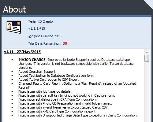 Terian IDC v1.11 Change Log