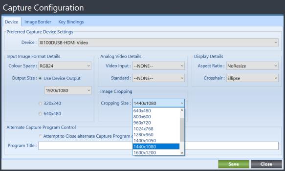 Terian IDC Capture Configuration