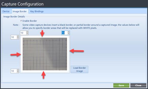 TerianIDC Capture Configuration Image Border