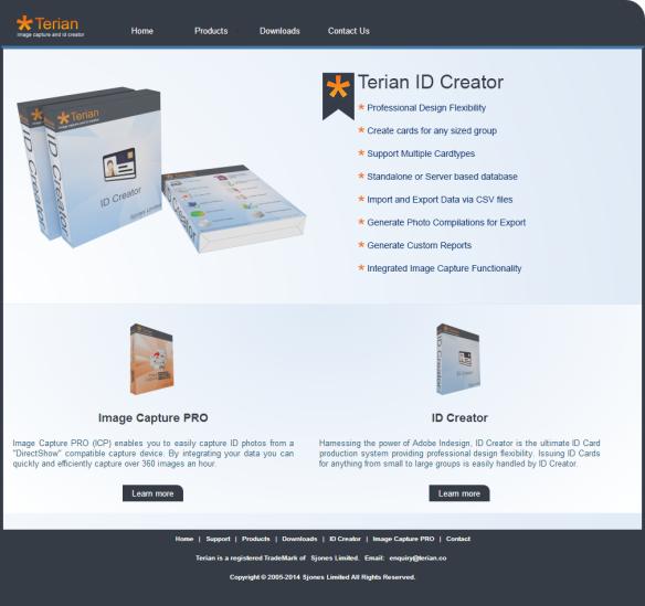 Terian WebSite Screenshot
