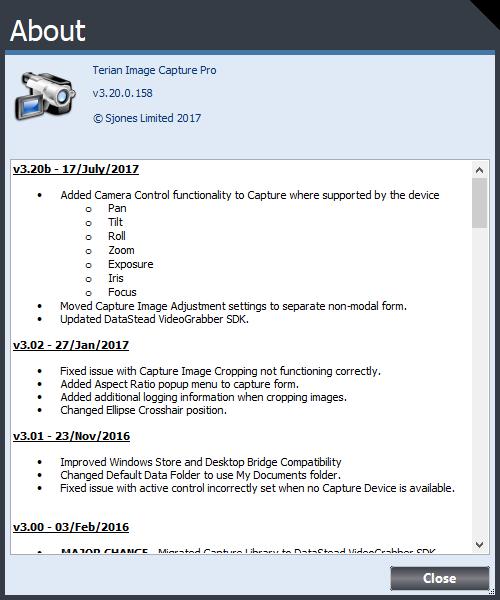 Terian ICP v3.20b Changelog