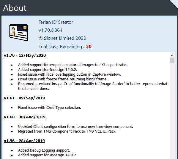 Terian IDC v1.70 Changelog
